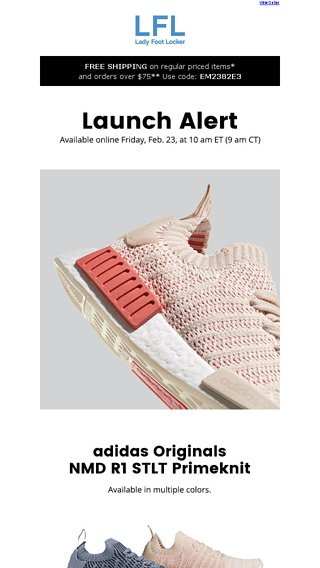 41124714a7406 adidas Originals NMD R1 STLT Primeknit – available 2.23 - Lady Foot Locker  Email Archive