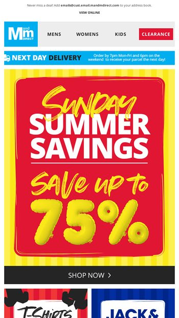 Is your wardrobe ready for the new season save up to 75