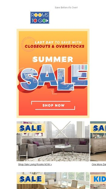 Once A Year Event Labor Day Sale Is Here Rooms To Go Email Archive