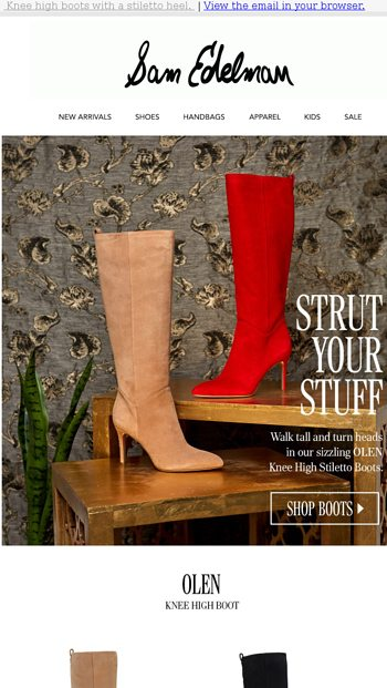 6e690c48066 Fall Ready  Knee High Stiletto Boots - Sam Edelman Email Archive