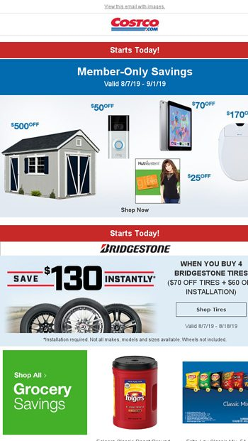Starts Today! Exclusive Member-Only Savings! - Costco