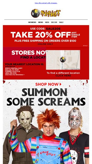 20 off all horror more