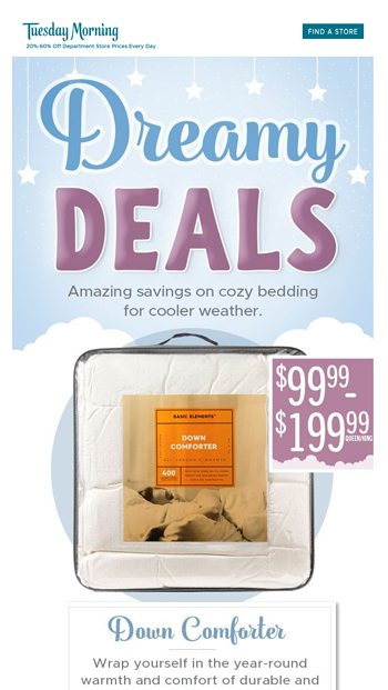 Cozy Bedding Deals From Just 2999