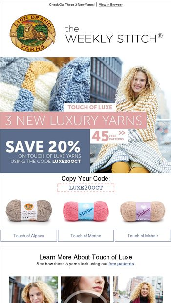 Lion Brand Yarn Email Newsletters