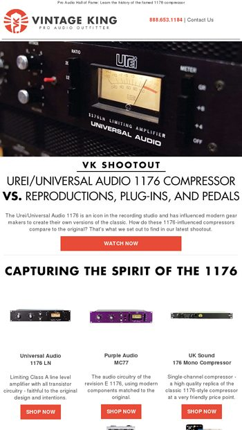 Watch Us Shootout the Urei/Universal Audio 1176 - Vintage