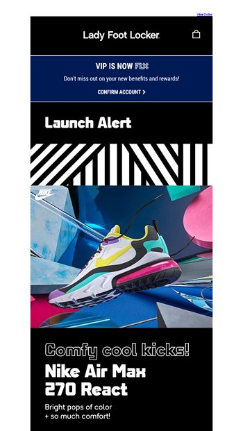 best website 72462 a352b Available 8.16: Nike Air Max 270 React - Lady Foot Locker ...