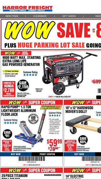 Harbor Freight Tools Email Newsletters