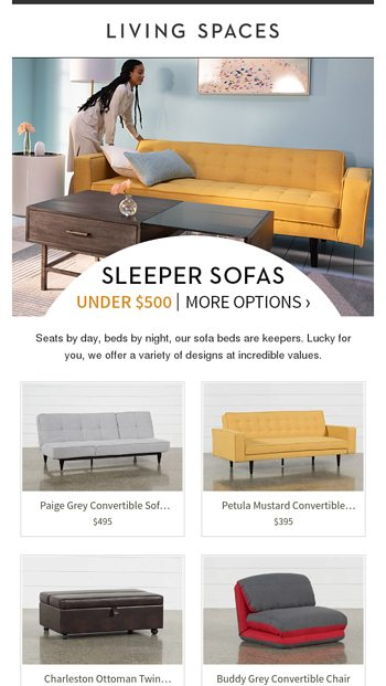Excellent Oh Yes Sleeper Sofas Under 500 Living Spaces Email Creativecarmelina Interior Chair Design Creativecarmelinacom