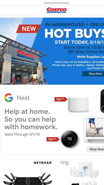 In-Warehouse Hot Buys Starts Today, 8/19/19! - Costco