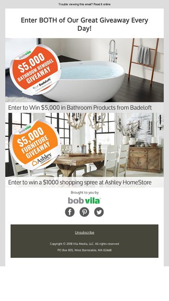 New 5000 Bathroom Remodel Giveaway With Badeloft AND Continuing Ashley  Homestore Giveaway