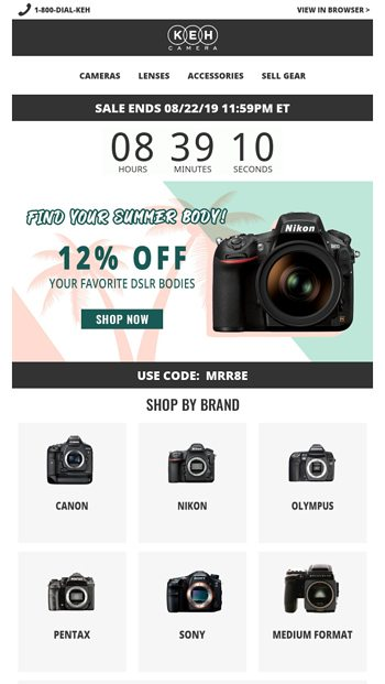 Last Day To Save 12% On DSLRs - KEH Camera Email Archive