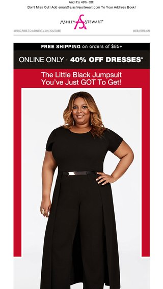 The Little Black Jumpsuit Ashley Stewart Email Archive