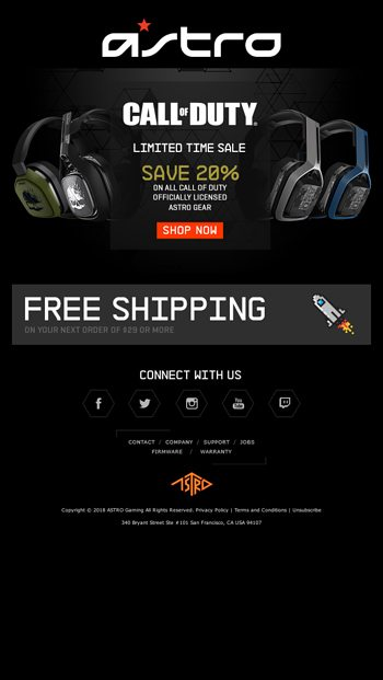 Astro Gaming Email Newsletters
