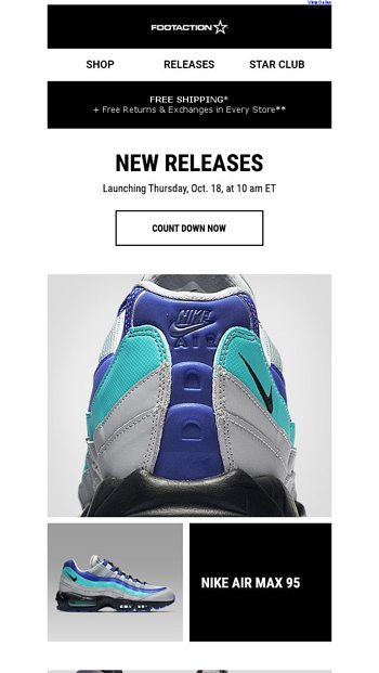 e061df48938 Nike Air Max 95 and Air Max Deluxe – Available Tomorrow! - Footaction Email  Archive