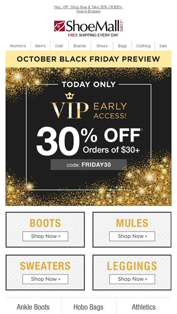 Hurry Pre Black Friday Event Shoemall Email Archive