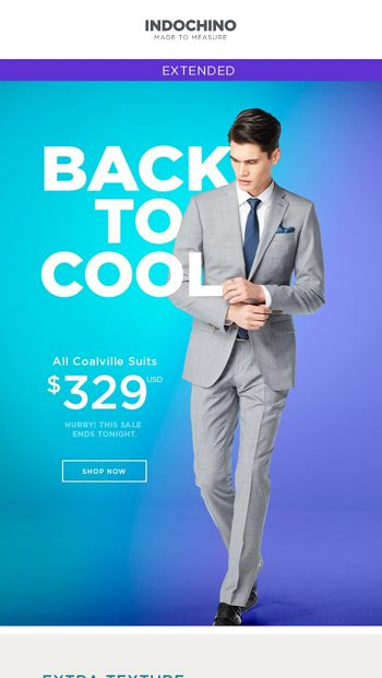 Another great INDOCHINO suit on sale for only $379