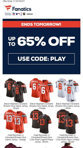 promo code 36d17 789fd Ends Tomorrow | Up To 60% Off Browns & Aggies Gear ...