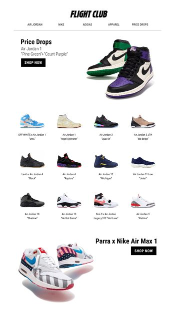 huge discount 79909 1e00f October Price Drops - Flight Club Email Archive