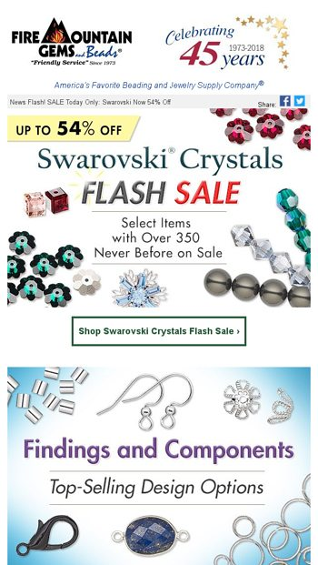 c9e54ae36 Swarovski SALE - Up to 54% Off - Fire Mountain Gems Email Archive