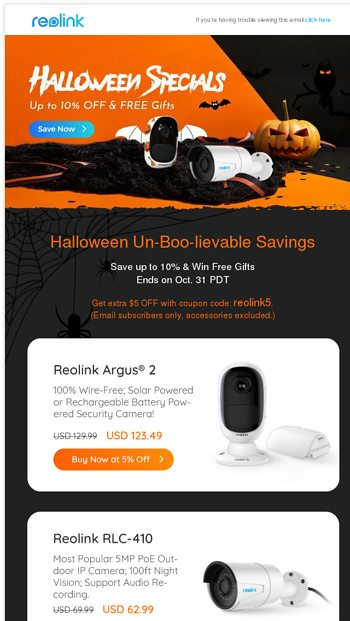 Un-Boo-lievable Halloween offer! Up to 10% OFF, FREE gifts & coupon