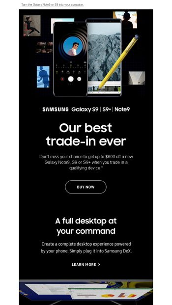 EmailTuna, upgrade and double your trade-in - Samsung Email
