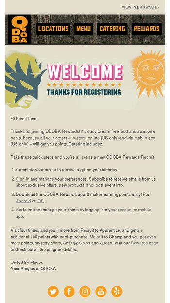 Welcome to QDOBA Rewards - Qdoba Mexican Eats Email Archive