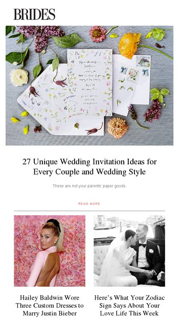 27 Unique Wedding Invitation Ideas to Make Your Own - BRIDES Email ...