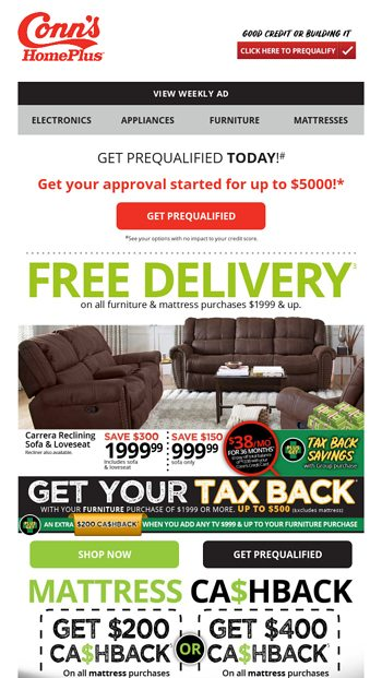Prime Happening Now Get Your Tax Back Conns Homeplus Email Squirreltailoven Fun Painted Chair Ideas Images Squirreltailovenorg