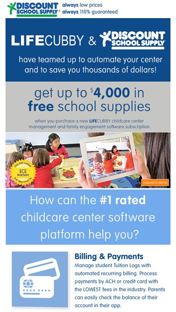 discount school supply email newsletters