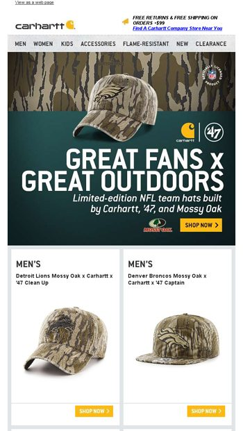 NFL team hats built for the fan of the outdoors - Carhartt.com Email Archive 919faf7f5