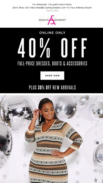 8853dc4640d08 The Classic Sweater Dress (40% Off!) - Ashley Stewart Email Archive