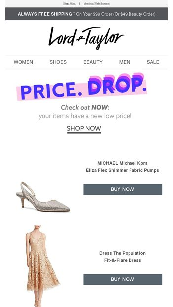 395a383b71a68 PRICE DROP! Your MICHAEL Michael Kors item has a NEW LOW PRICE! - Lord &  Taylor Email Archive