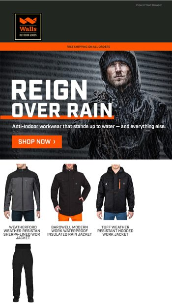 Workwear to weather it better. Shop new fall gear. Walls