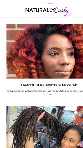 15 Stunning Holiday Hairstyles For Natural Hair