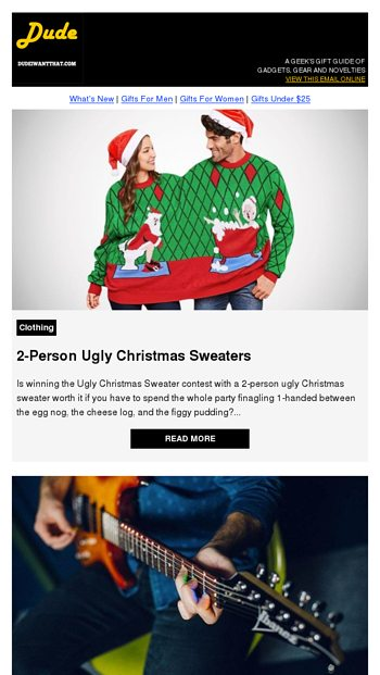 2 Person Ugly Christmas Sweaters Dude I Want That Email Archive