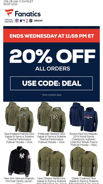 a528d46732b465 Activate Your Coupon... - Fanatics.com Email Archive