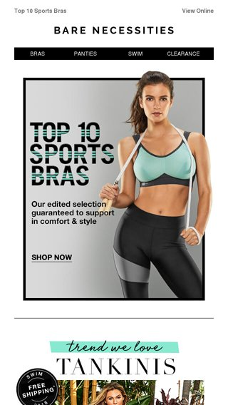 c550d1c8c8 Game On  Our 10 Best Sports Bras - Bare Necessities Email Archive