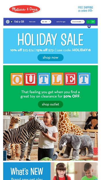 Holiday Sale And 50 Off Melissa Doug Email Archive