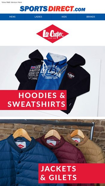 96fd10dc Huge Savings on the Lee Cooper Range - SportsDirect.com Email Archive