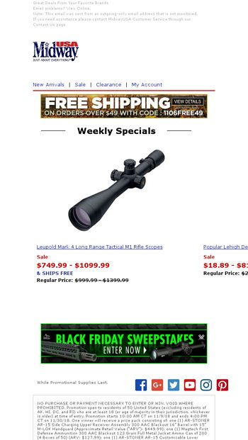 Deals from Bianchi, Fiocchi, Wheeler Engineering & More