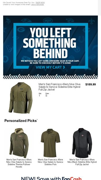 brand new a8cad a0c33 Forget Something? - NFLShop Email Archive