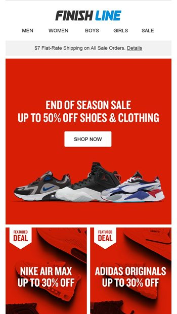 So, good news You can still save up to 50% off. Finish