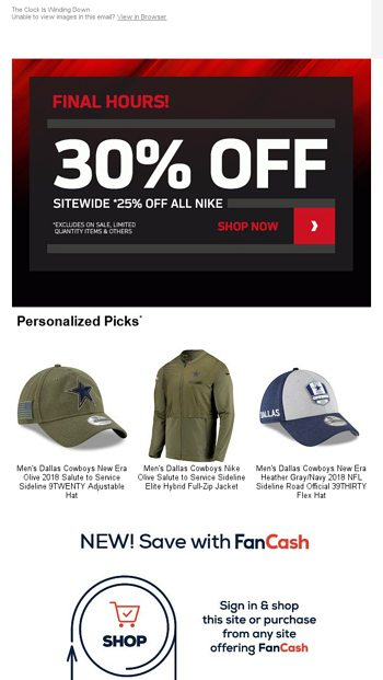6006ee453ad LAST CHANCE  30% Off Sitewide Ends Tonight - NFLShop Email Archive