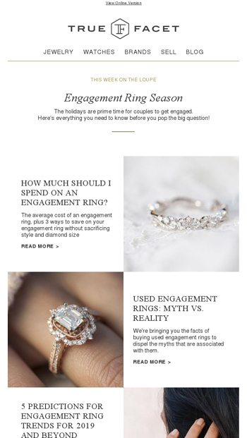 25beab6c85a How Much Should You Spend on an Engagement Ring  - TrueFacet Email Archive
