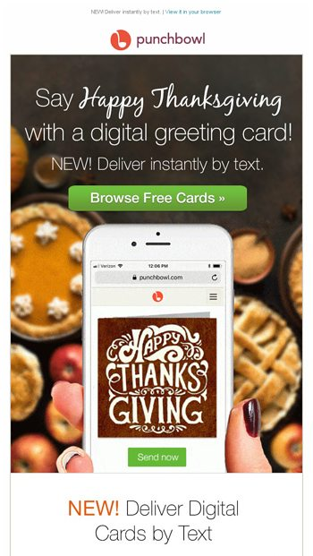 Send Free Thanksgiving Cards Right From Your Phone