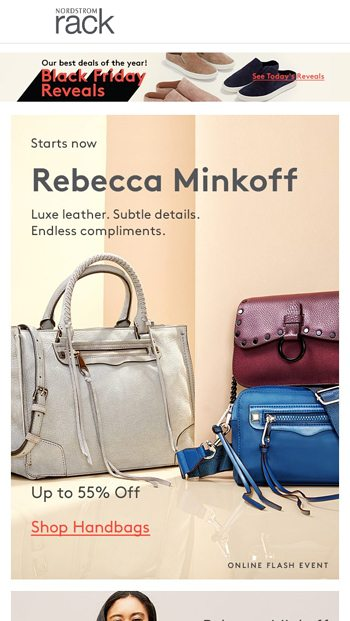 8070a494fbb The Rebecca Minkoff Event starts now! - Nordstrom Rack Email Archive