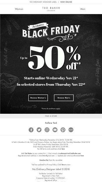 817c7e314f64b Black Friday is coming... - Ted Baker London Email Archive