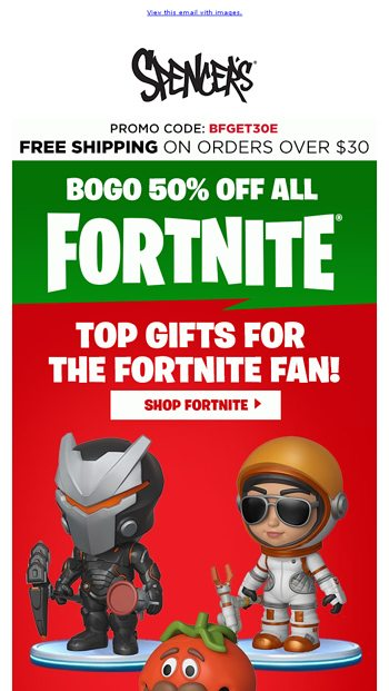 BOGO 50% Off Top Gifts for the Fortnite Fan! - Spencer's Online