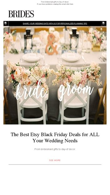Etsy Black Friday Deals For All Your Wedding Needs Brides Email