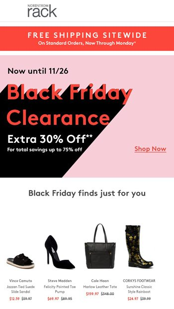 52a8ff2d8b3c BLACK ↓ FRIDAY ↓ CLEARANCE - Nordstrom Rack Email Archive